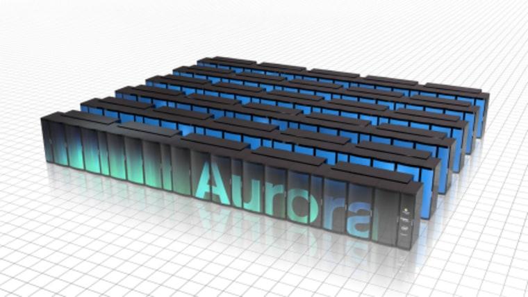 Image: Aurora supercomputer