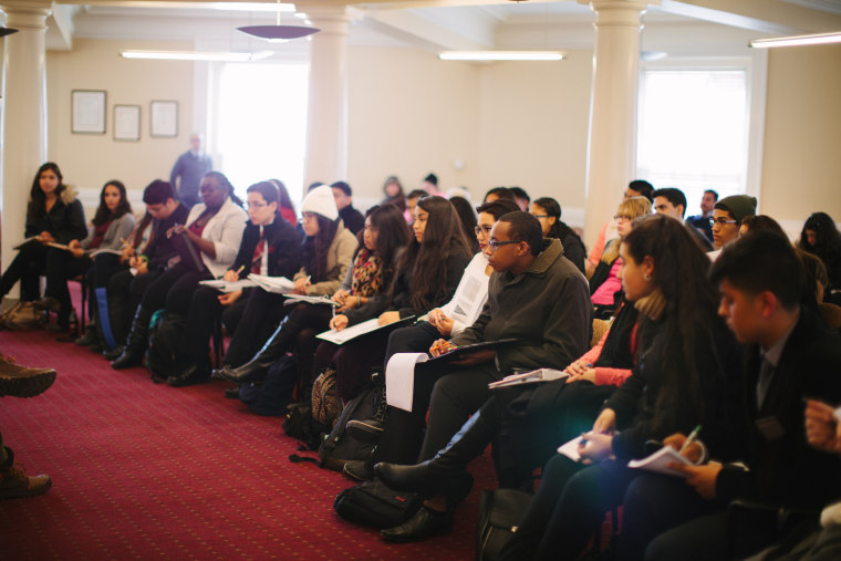 Image: Arizona Ivy League Project students attend Harvard information session