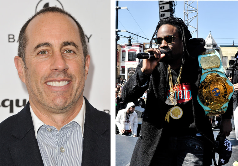 Image: Composite photo of Jerry Seinfeld and Wale