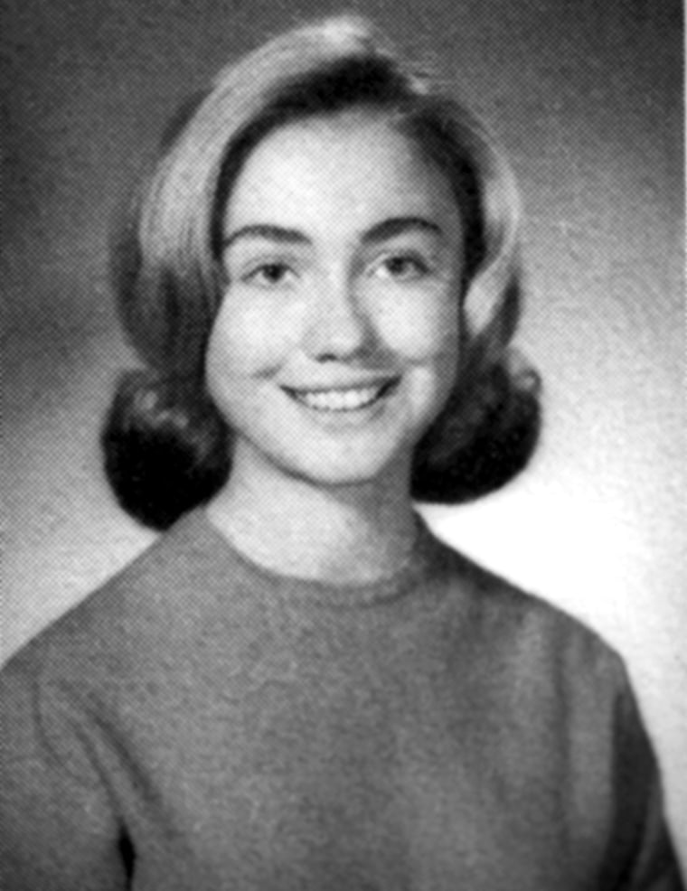Image: Hillary Rodham poses in her 1965 senior class portrait from Park Ridge (Ill.) East High School.
