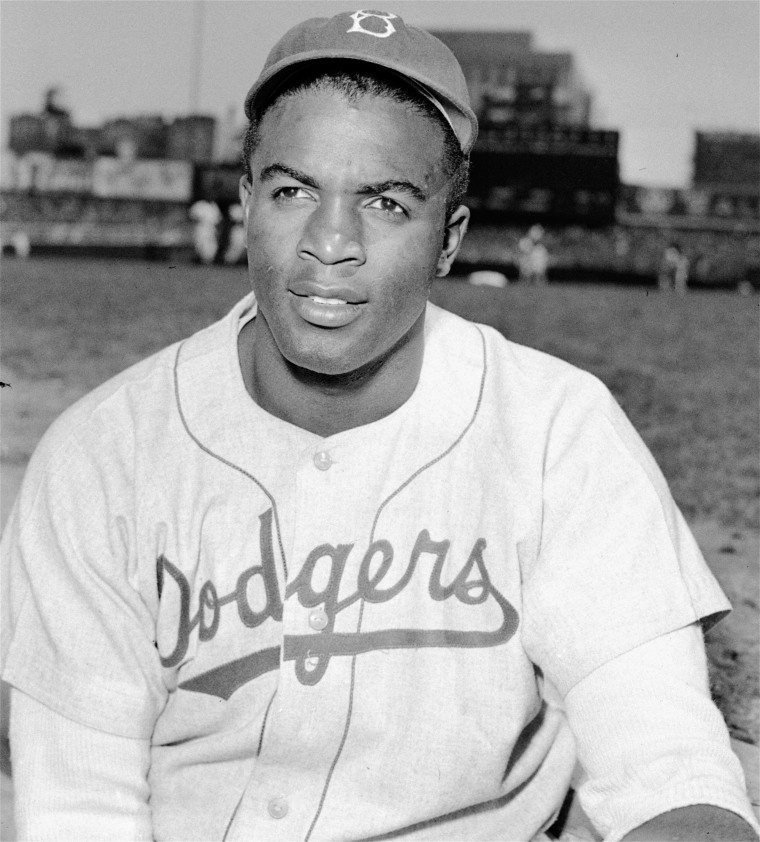 Brooklyn Dodgers' infielder Jackie Robinson is shown in this April 18, 1948 file photo. (AP Photo)
