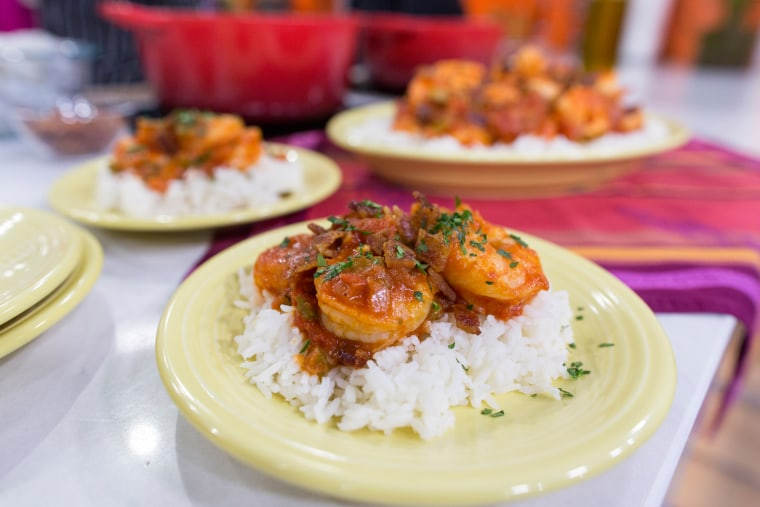 Rev Run's shrimp and rice