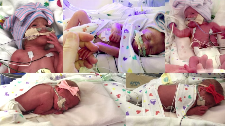 First-ever all female quintuplets born in the United States