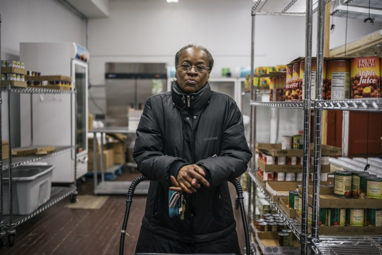 Image: Food pantry client