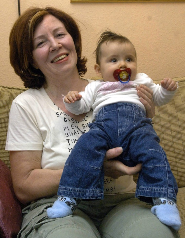 Image: 65-year-old Annegret Raunigk pregnant with quadruplets