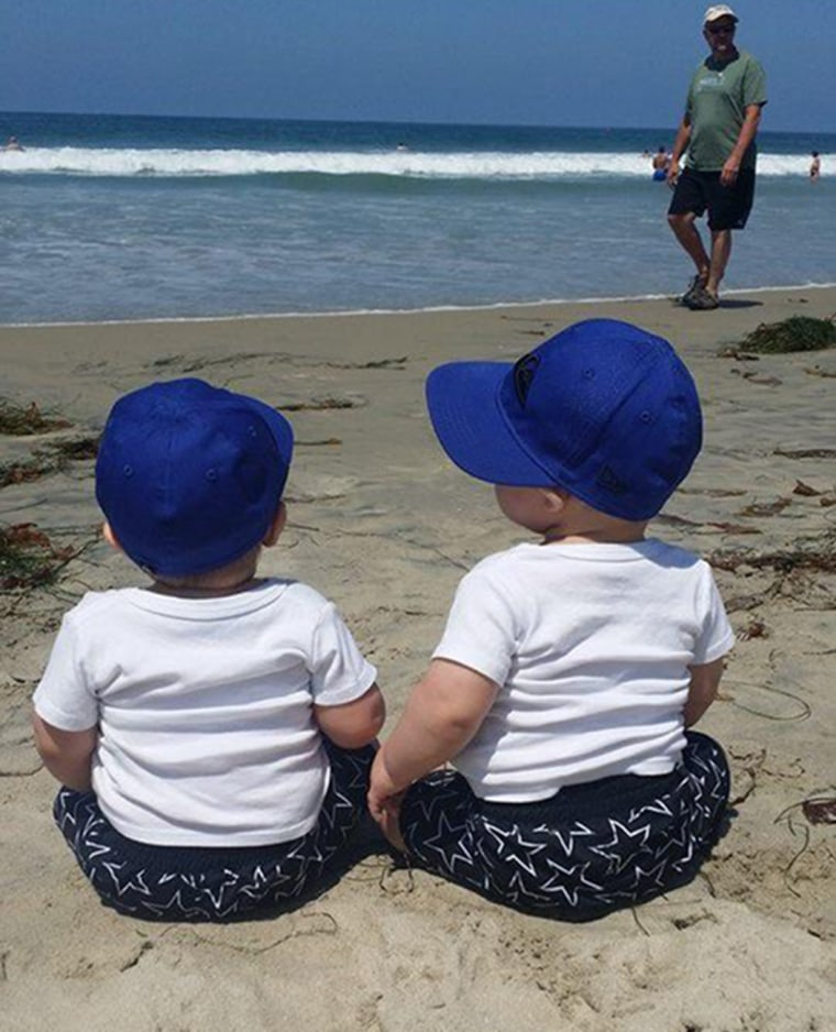 Image: Twins Eli and Silas, 18 months old, drowned after falling into a canal in Yuma, Arizona.