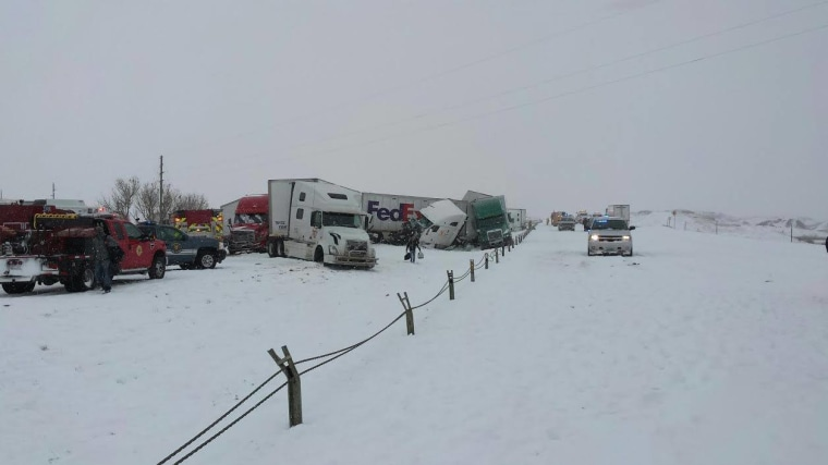 IMAGE: 70-vehicle pile-up in Wyoming