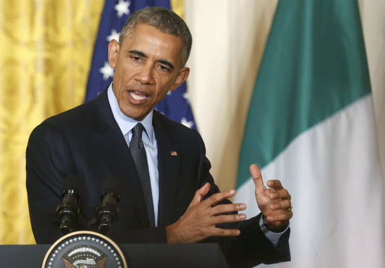 Image: U.S. President Obama addresses joint news conference at the White House in Washington