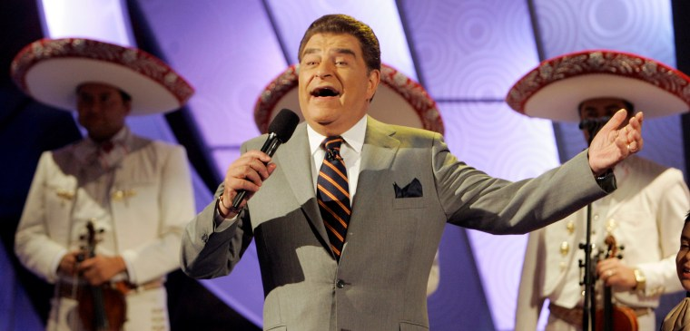 Mario Kreutzberger, 67, better known as Don Francisco, speaks during the taping of his TV show Sabado Gigante in Miami in 2008.
