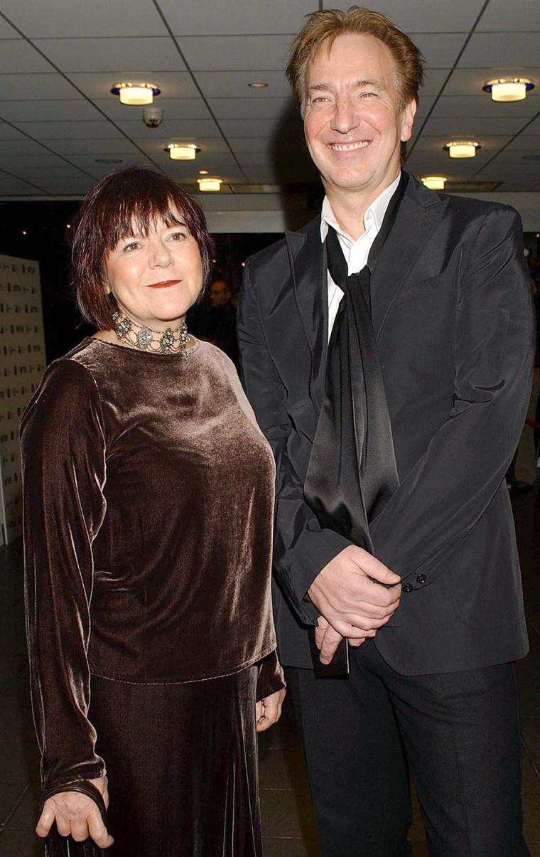 Alan Rickman and his partner Rima Horton