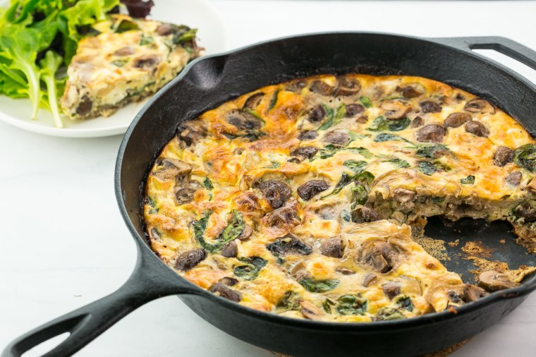 An end-of-the-week frittata dinner is a great way to use up leftovers