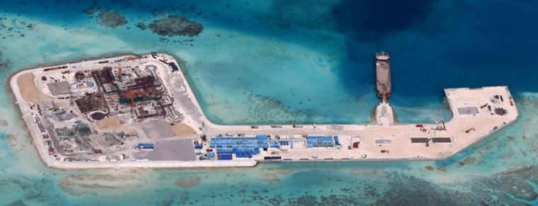 Chinese reclamation activities in the South China Sea.
