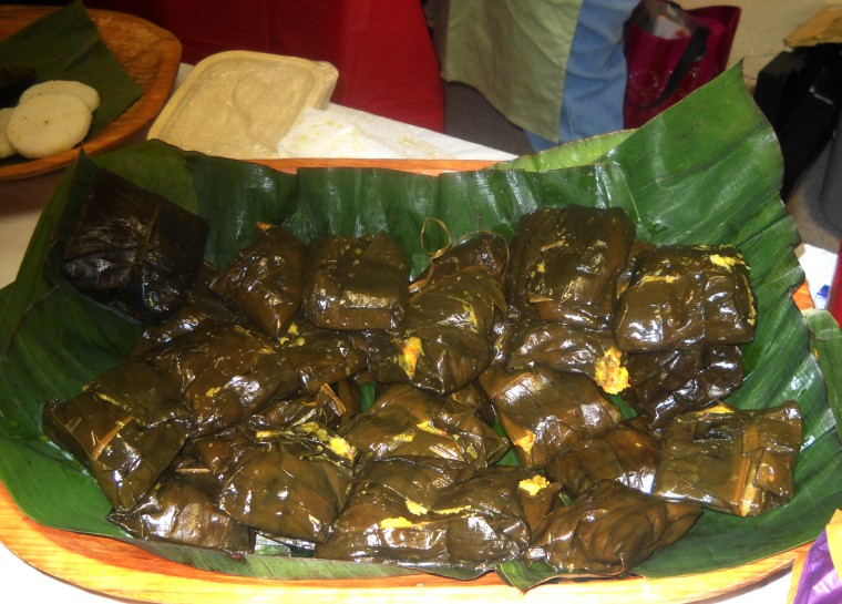 Colombian tamales are wrapped in banana leaves. Although tamales are found in several Latin American countries, they vary in how they are wrapped and the ingredients within them.