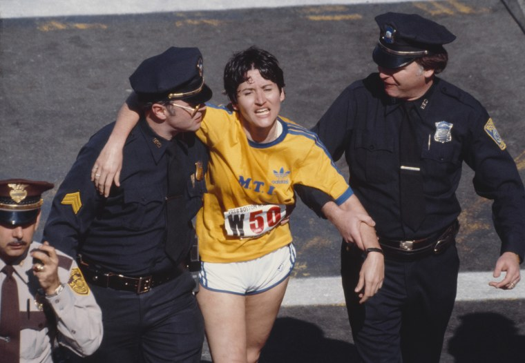 Rosie Ruiz Finishes Boston Marathon