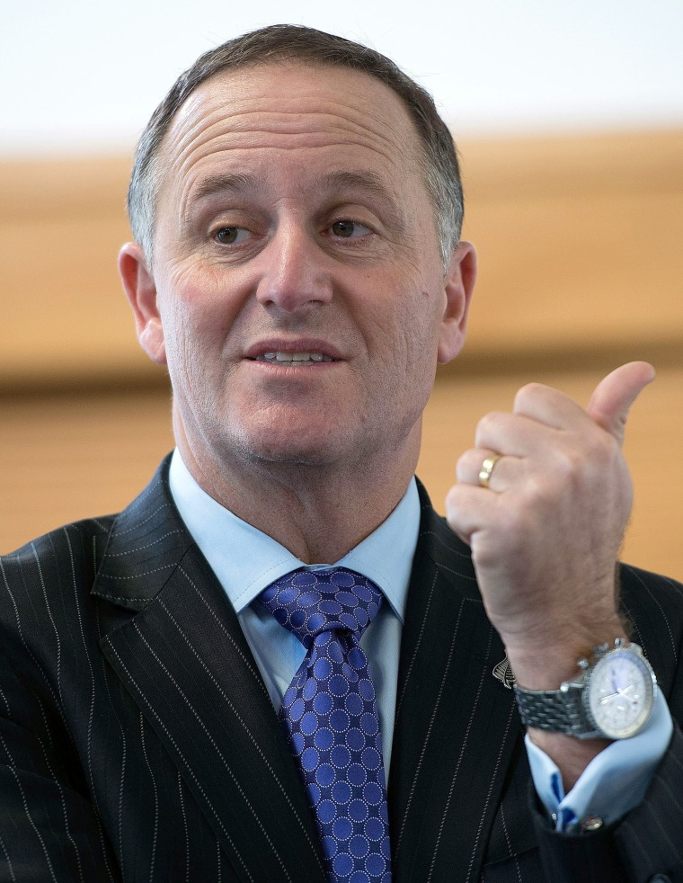 Image: New Zealand Prime Minister John Key