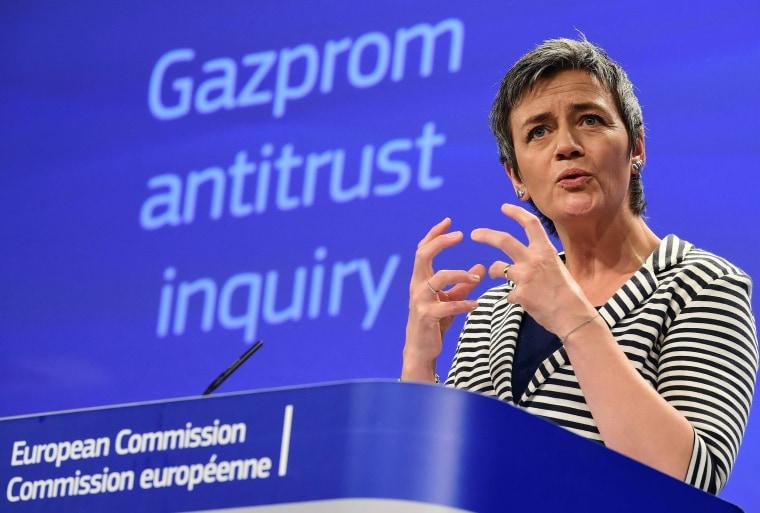 Image: BELGIUM-EU-COMPETITION-GAZPROM