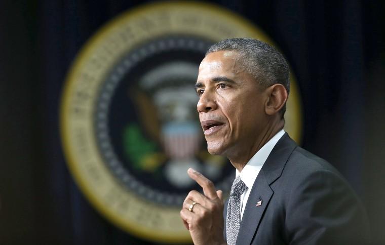 Image: President Barack Obama delivers remarks at a Champions of Change event.