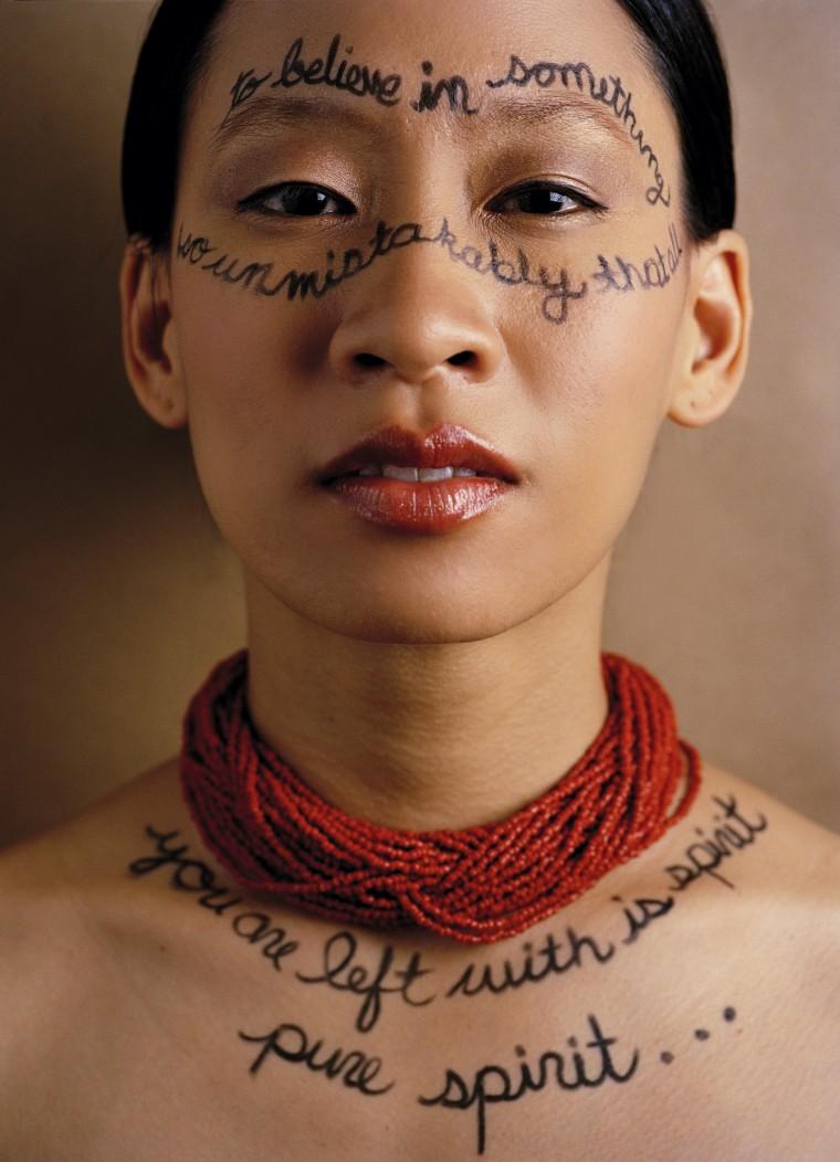 Kelly Zen-Yie Tsai - spoken word artist. Makeup by Myrian Touma. Styling by Alli Maxwell.