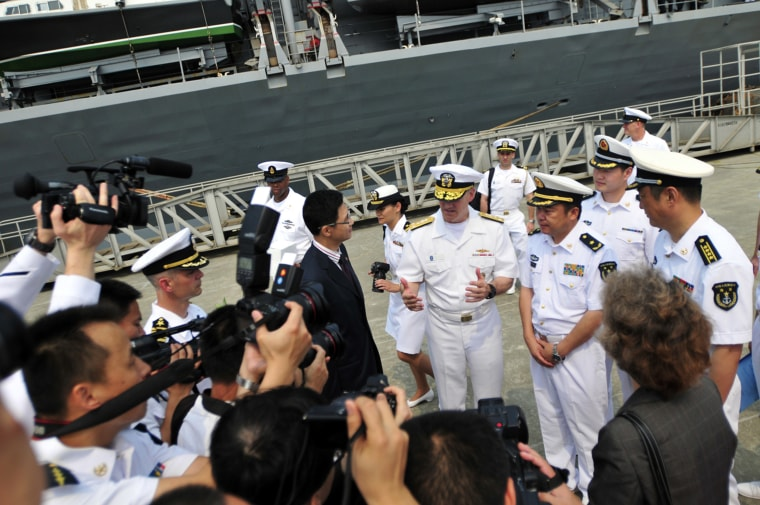 Image: Senior leaders from the American and Chinese Navies Meeeting