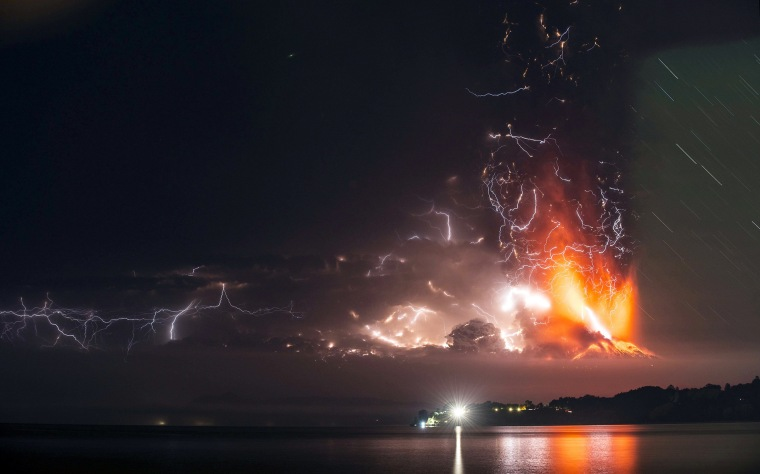 Calbuco Volcano Spews Giant Tower of Ash in Chile
