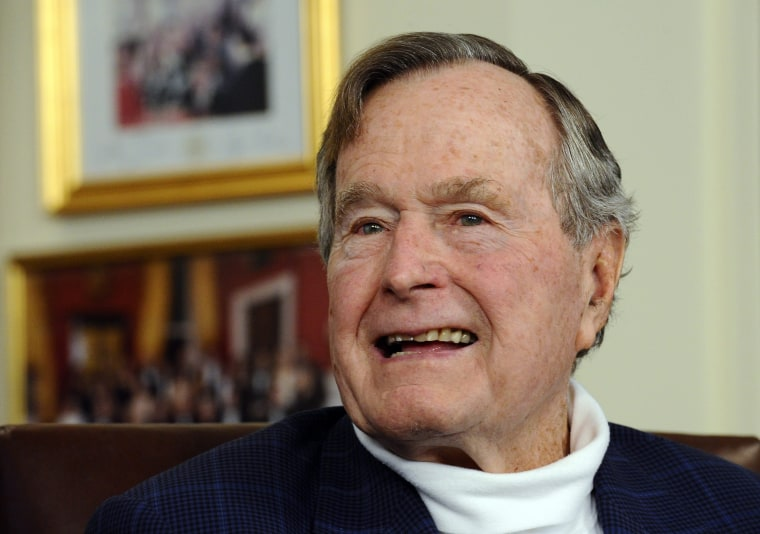 Image: George Bush senior hospitalized with breathing difficulties