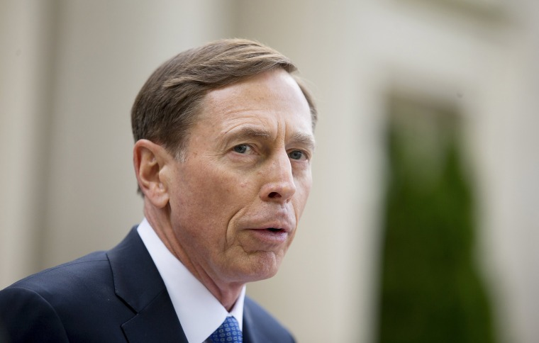 Former CIA director David Petraeus speaks after leaving the Federal Courthouse in Charlotte, North Carolina, April 23, 2015. Petraeus was sentenced to two years of probation and ordered to pay a $100,000 fine after pleading guilty to mishandling classified information. REUTERS/Chris Keane
