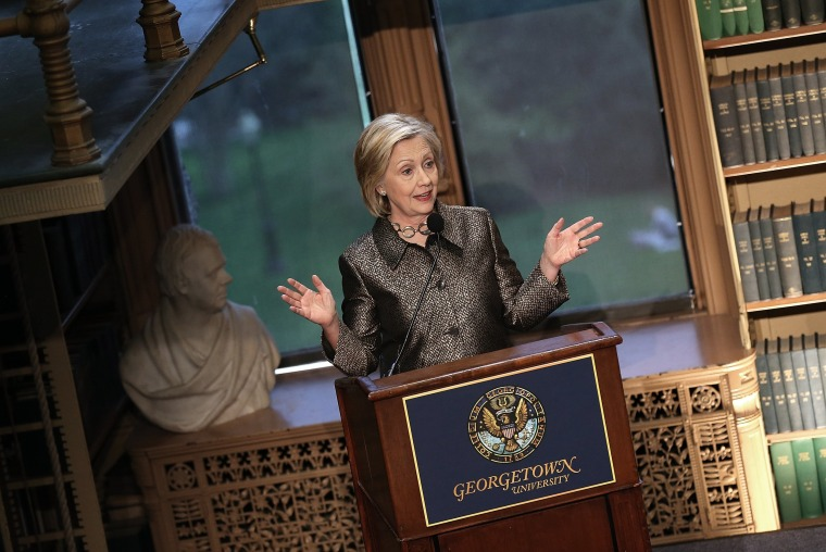 Image: Hillary Clinton Attends Georgetown Institute For Women, Peace And Security Award Ceremony