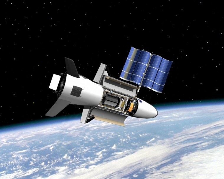 Image: Artist's illustration of U.S. Air Force's X-37B space plane in orbit