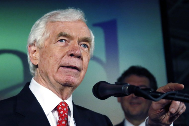 Image: Thad Cochran addresses supporters and volunteers at his runoff election victory party
