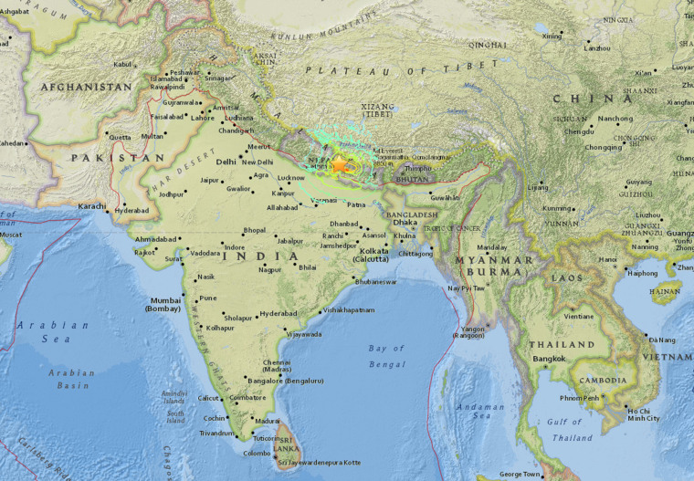 Nepal earthquake death toll rises to 1970 after 78 magnitude quake usgs map of the nepal earthquake gumiabroncs Choice Image