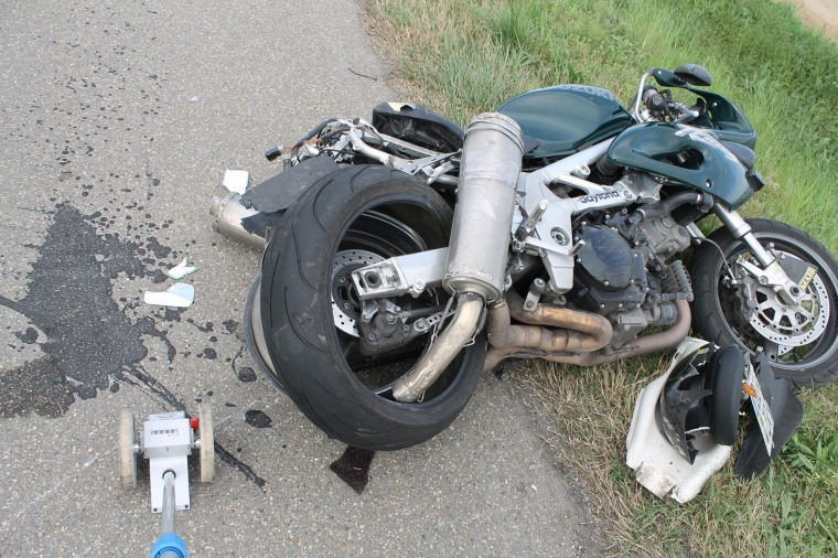 Image-A German motorbike crashed with a car on super highway A65