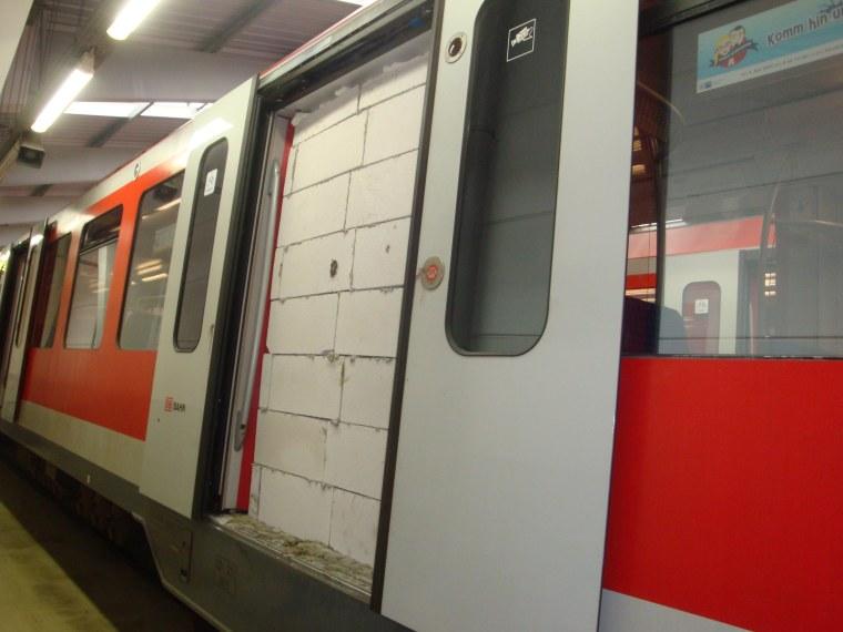 Image: Bricked up train door in Hamburg, Germany