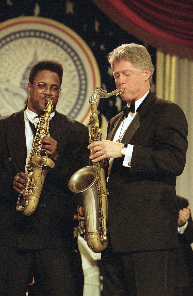 Image: Ben E. King and President Bill Clinton