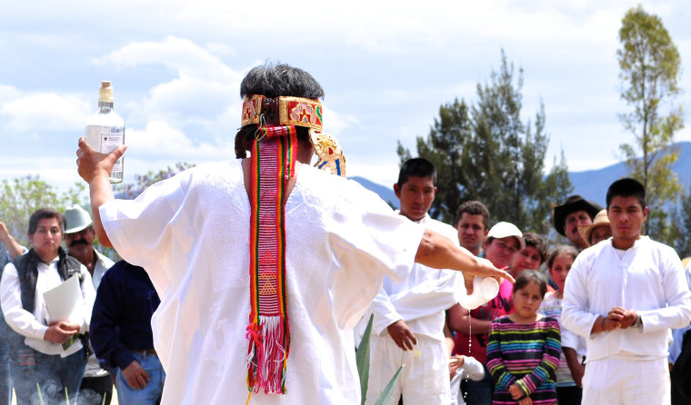 Image: Zapotec Priestess during ceremonial blessing