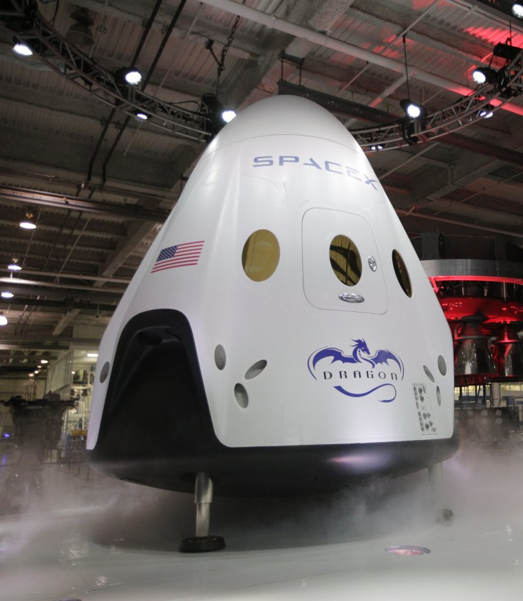 Image: SpaceX Dragon V2 spacecraft