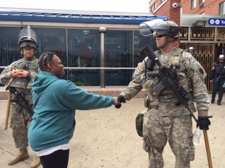 Image: Alicia Smith and National Guard soldier