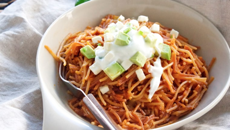 Real mexican food try sopa seca an easy noodle casserole sopa seca mexican noodle casserole forumfinder Choice Image