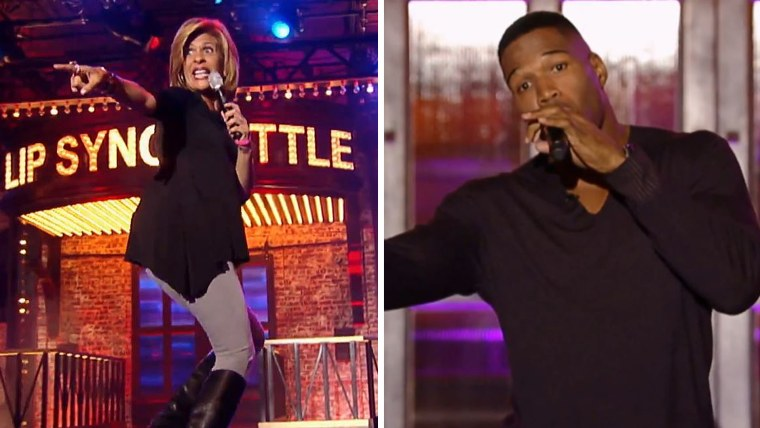 Hoda Kotb and Michael Strahan perform on Lip Sync Battle