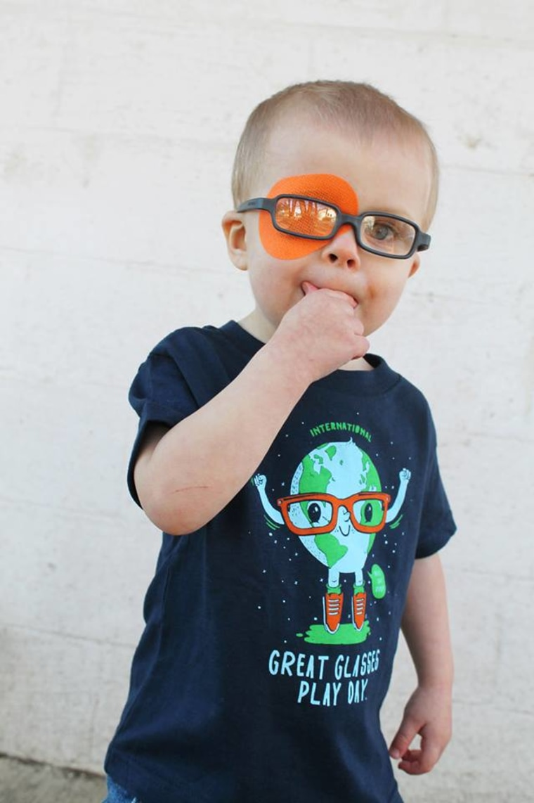 Jessica Butler's son Scott at a Great Glasses Play Day event in Portland.