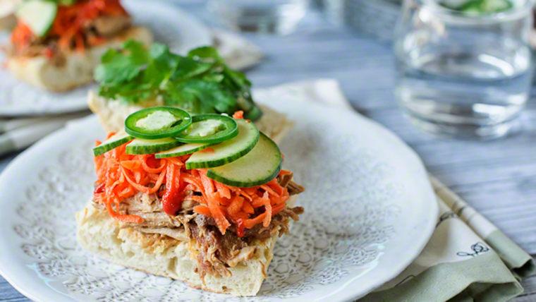Slow-cooker bánh mì (Vietnamese sandwiches)