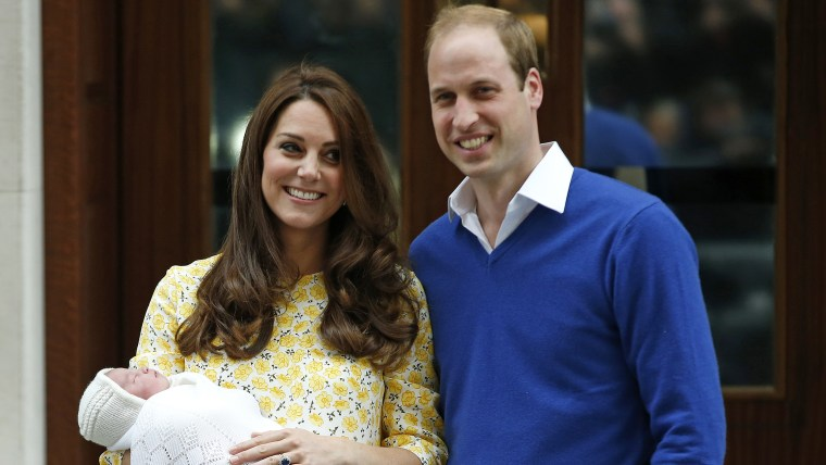 The royal family with their new daughter