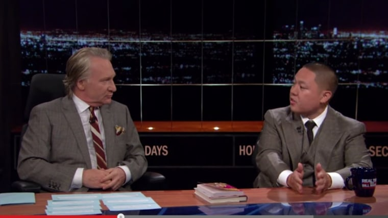 """Eddie Huang appears on HBO's """"Real Time with Bill Maher,"""" on April 24, 2015."""