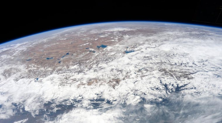 NASA astronaut Terry Virts posted this photo of Nepal's Kathmandu region as it appeared from the International Space Station on April 26, 2015, one day after a devastating earthquake struck the country.