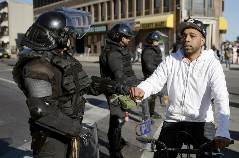 Baltimore Quiets as Curfew Takes Effect Under Blanket of National Guard