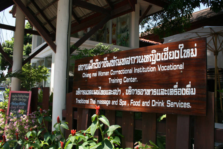 The entrance to the Chiang Mai Women Correctional Institution Vocational Training Center.