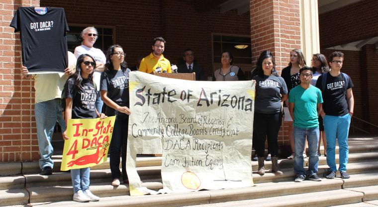 Image: Students celebrate at Phoenix College