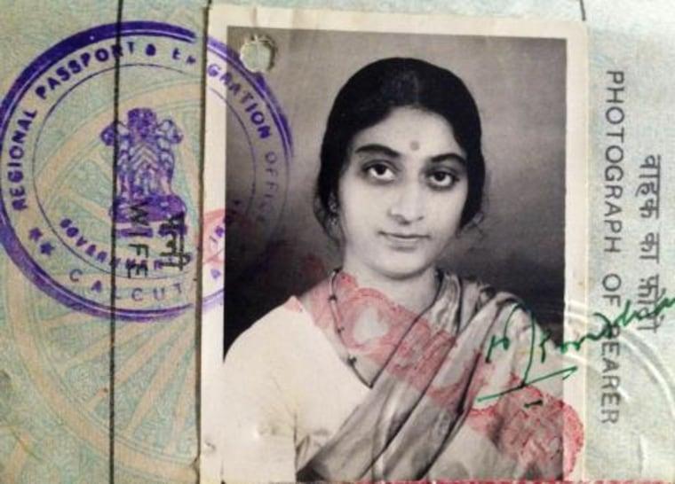 Sarmistha Bhattacharjya's passport photo.