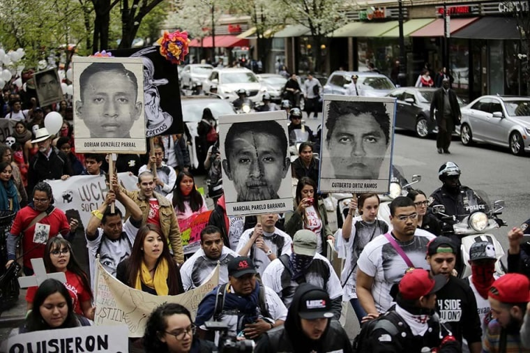 Image: US-MEXICO-CRIME-STUDENTS-PROTEST