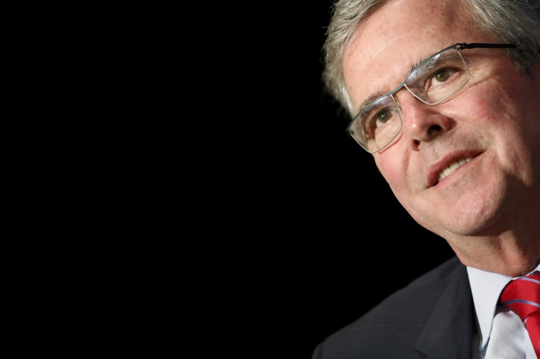 Image: Bush addresses the National Review Institute's 2015 Ideas Summit in Washington