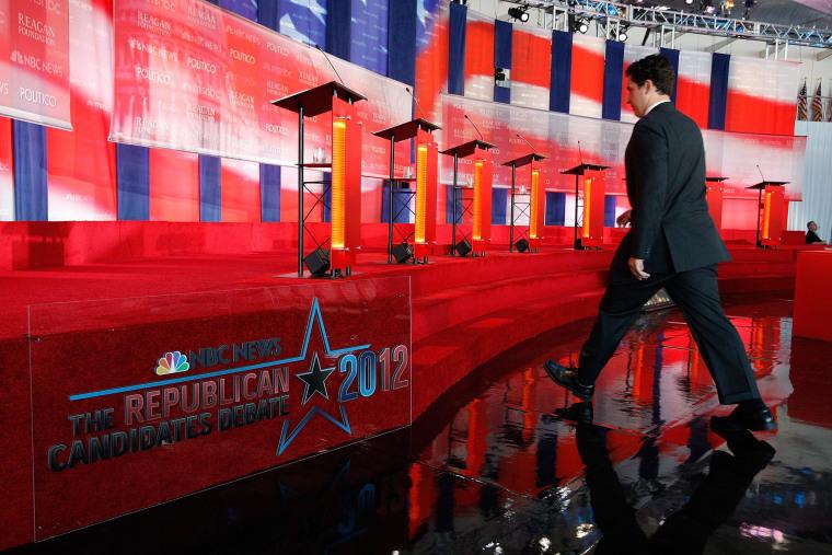Image: Republican Candidates Participate In Debate At Reagan Library